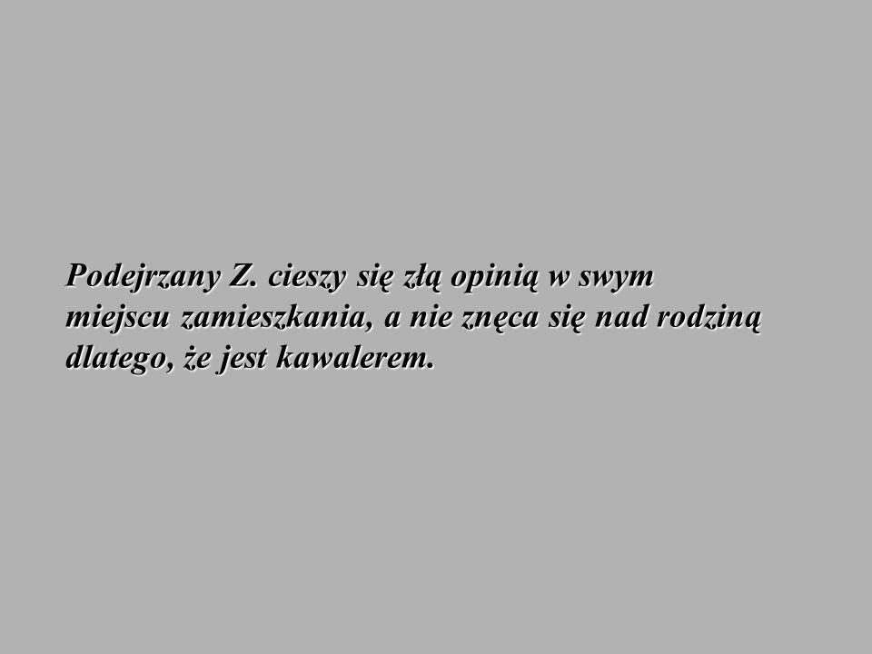 Podejrzany Z.