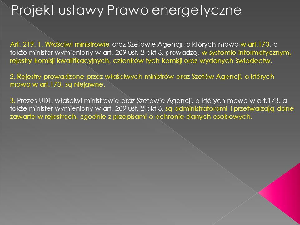 Projekt ustawy Prawo energetyczne