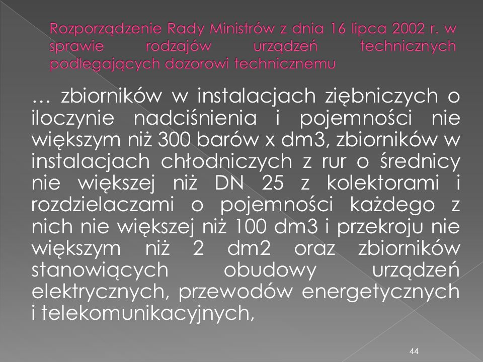 Rozporządzenie Rady Ministrów z dnia 16 lipca 2002 r
