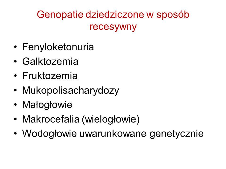 Genopatie dziedziczone w sposób recesywny