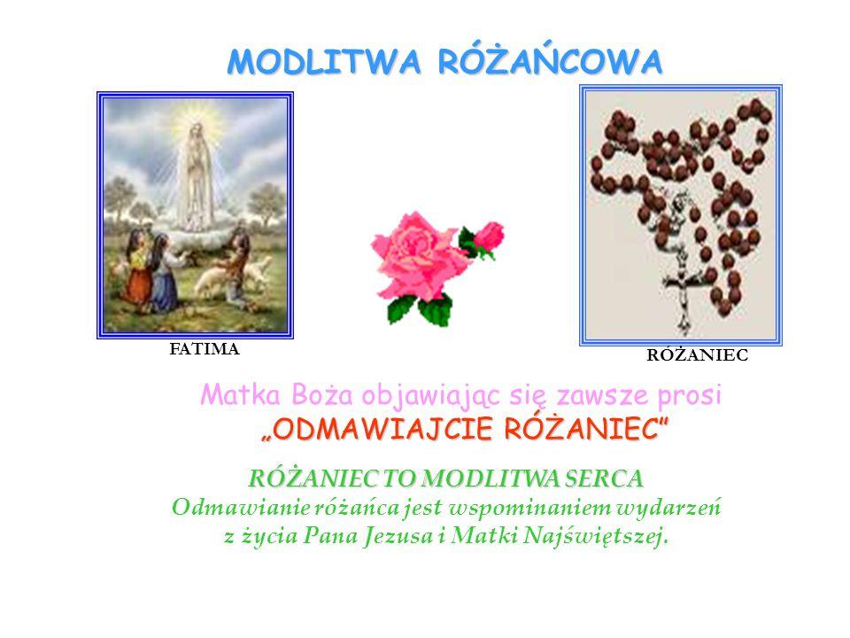 MODLITWA RÓŻAŃCOWA Matka Boża objawiając się zawsze prosi