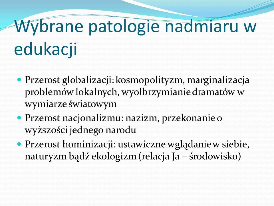 Wybrane patologie nadmiaru w edukacji