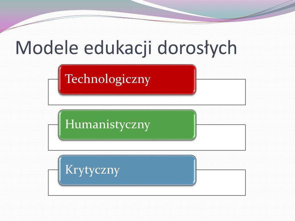 Modele edukacji dorosłych