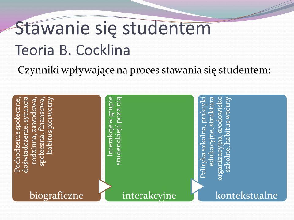 Stawanie się studentem Teoria B. Cocklina