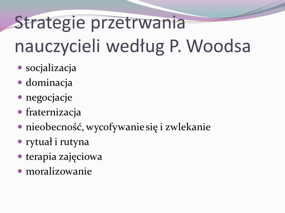 Strategie przetrwania nauczycieli według P. Woodsa