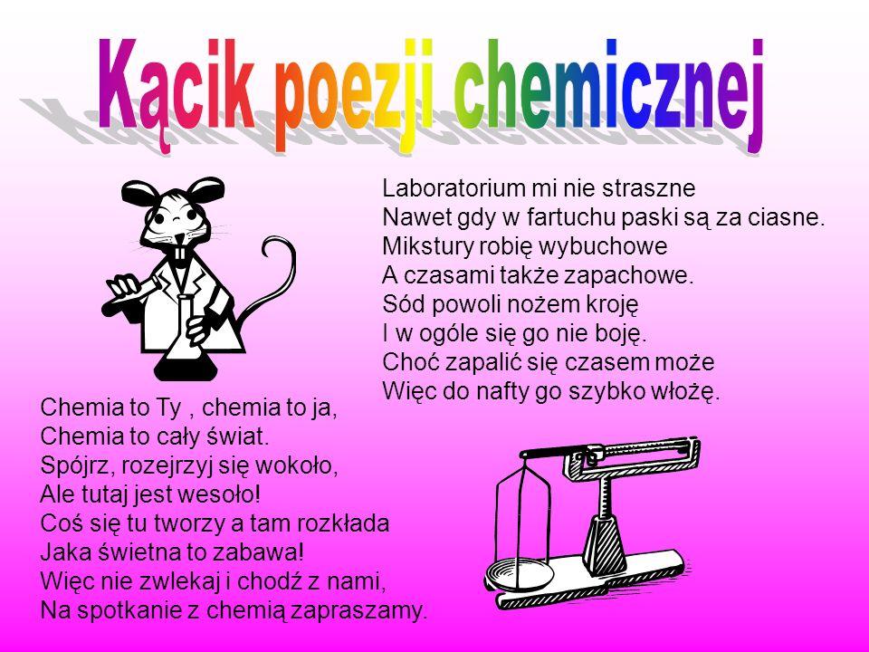 Kącik poezji chemicznej