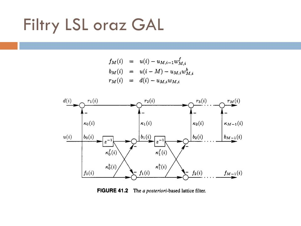 Filtry LSL oraz GAL