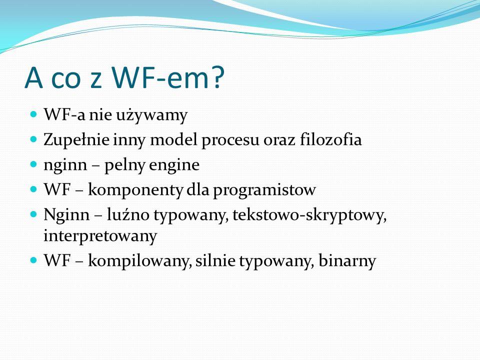 A co z WF-em WF-a nie używamy