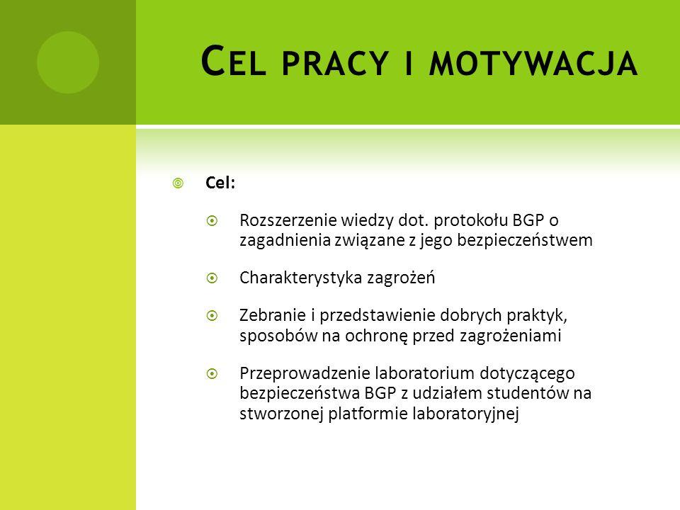 Cel pracy i motywacja Cel: