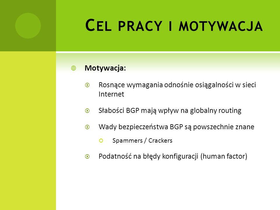 Cel pracy i motywacja Motywacja:
