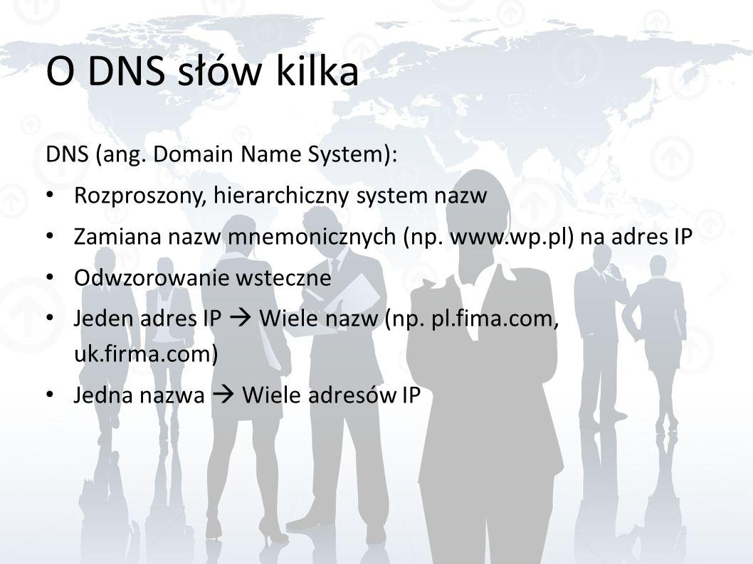 O DNS słów kilka DNS (ang. Domain Name System):