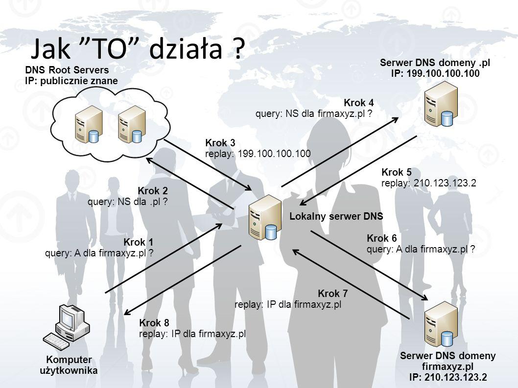 Jak TO działa Serwer DNS domeny .pl IP: 199.100.100.100