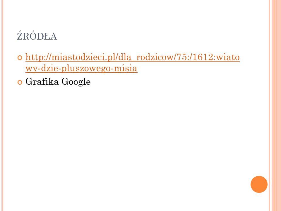 źródła http://miastodzieci.pl/dla_rodzicow/75:/1612:wiato wy-dzie-pluszowego-misia Grafika Google