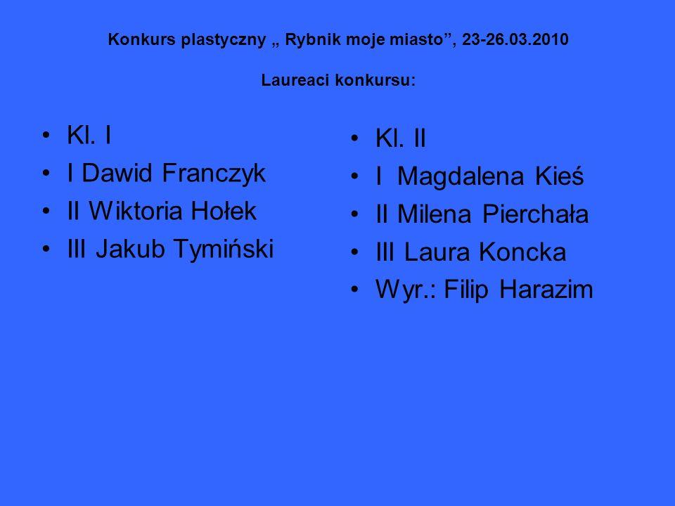 Kl. I Kl. II I Dawid Franczyk I Magdalena Kieś II Wiktoria Hołek