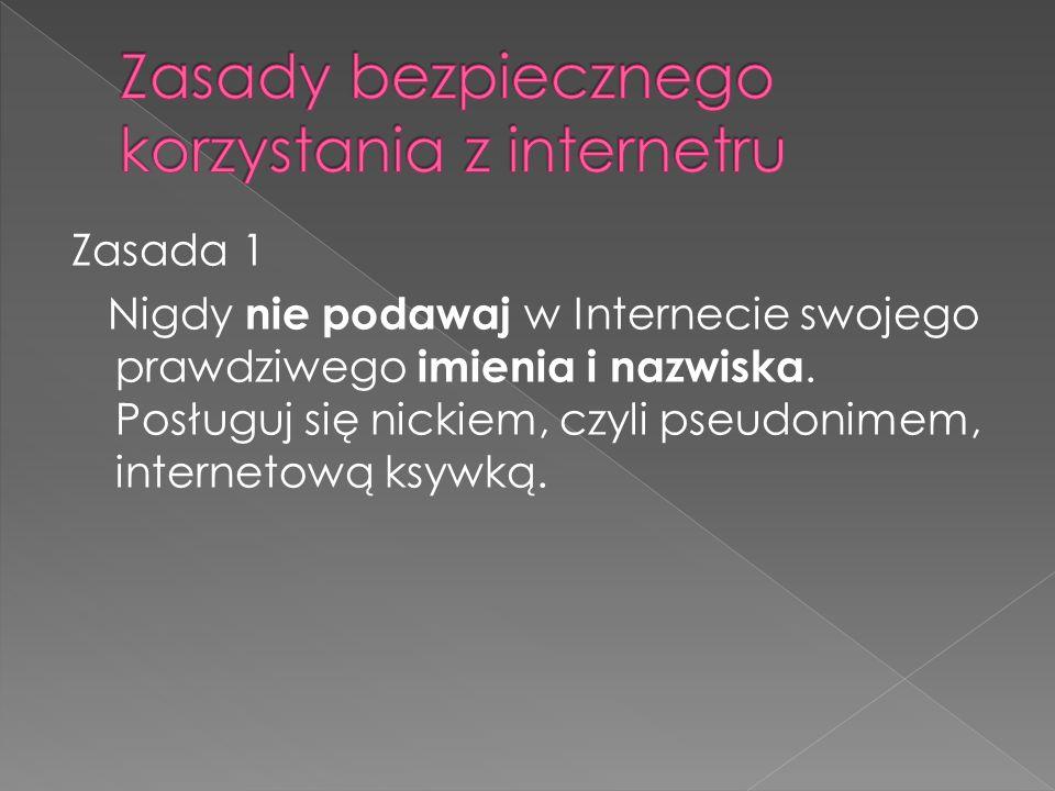 Zasady bezpiecznego korzystania z internetru