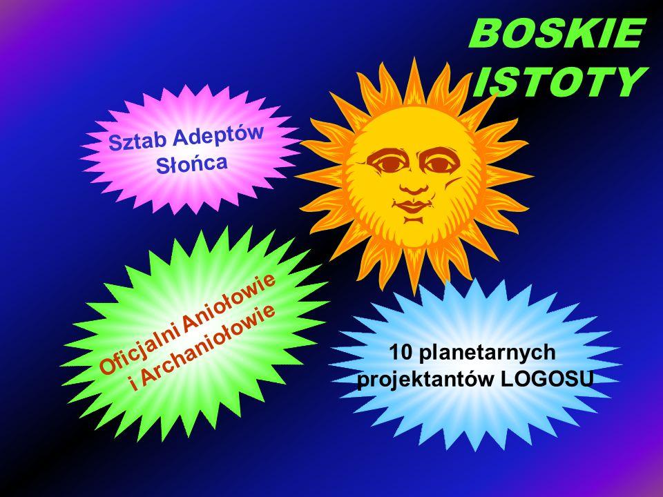 BOSKIE ISTOTY Sztab Adeptów Słońca Oficjalni Aniołowie i Archaniołowie