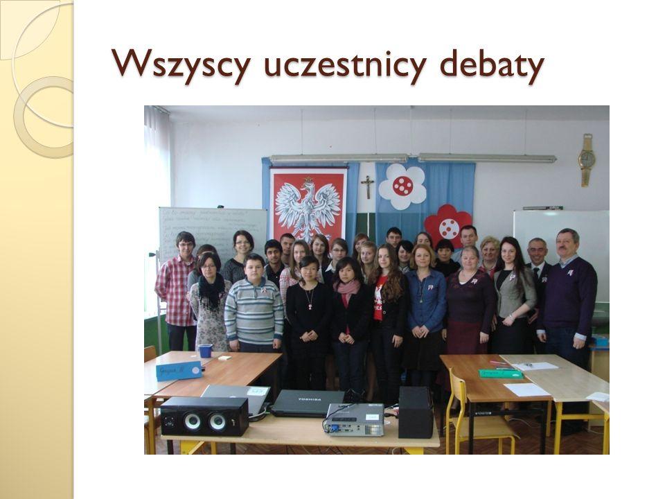 Wszyscy uczestnicy debaty