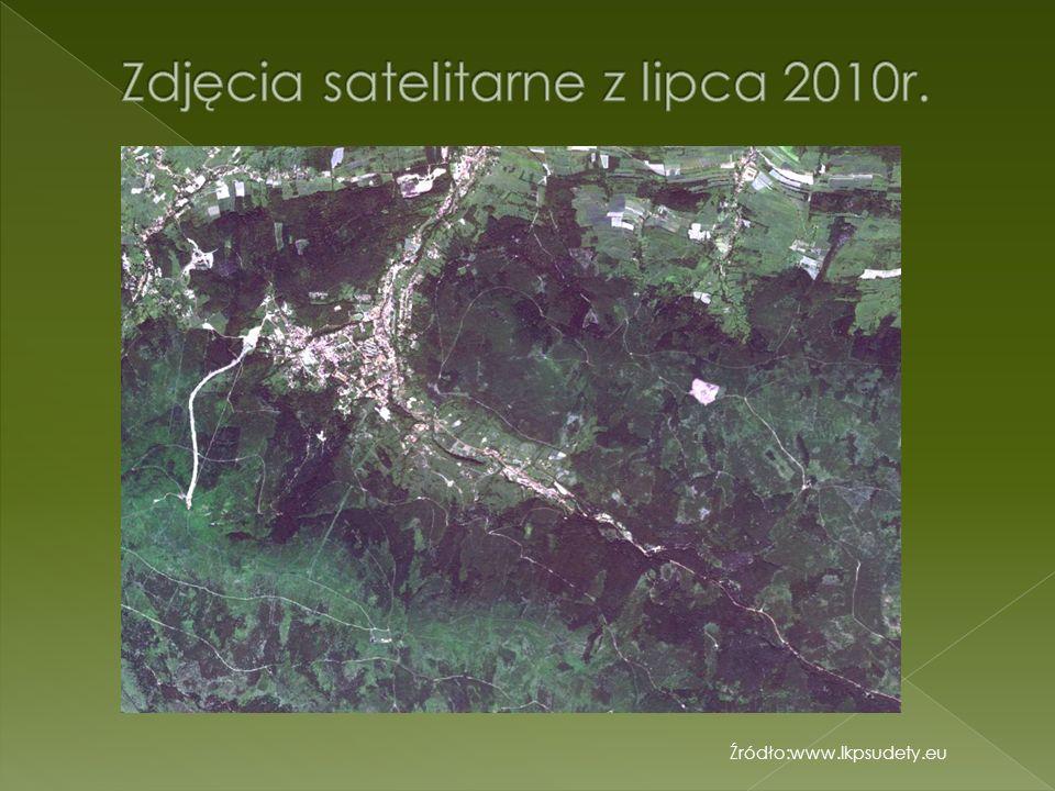 Zdjęcia satelitarne z lipca 2010r.