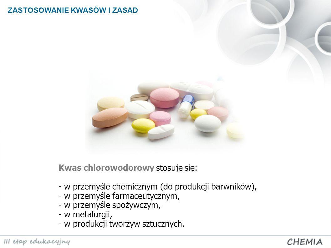 Kwas chlorowodorowy stosuje się: