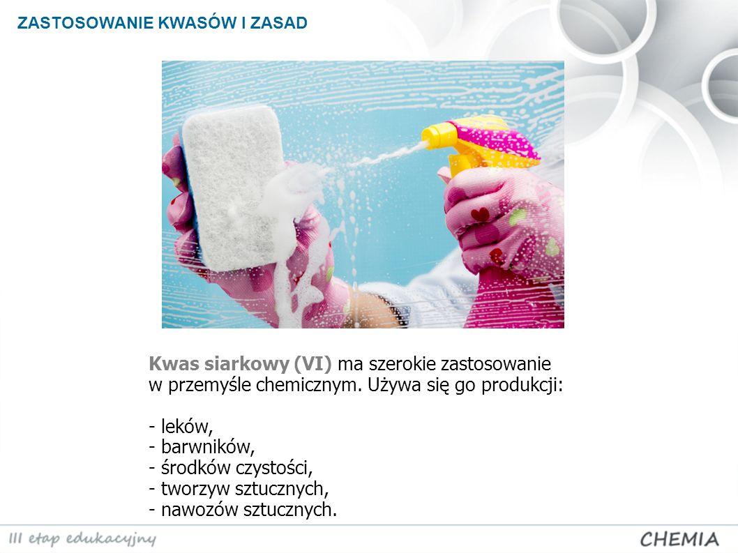 Kwas siarkowy (VI) ma szerokie zastosowanie