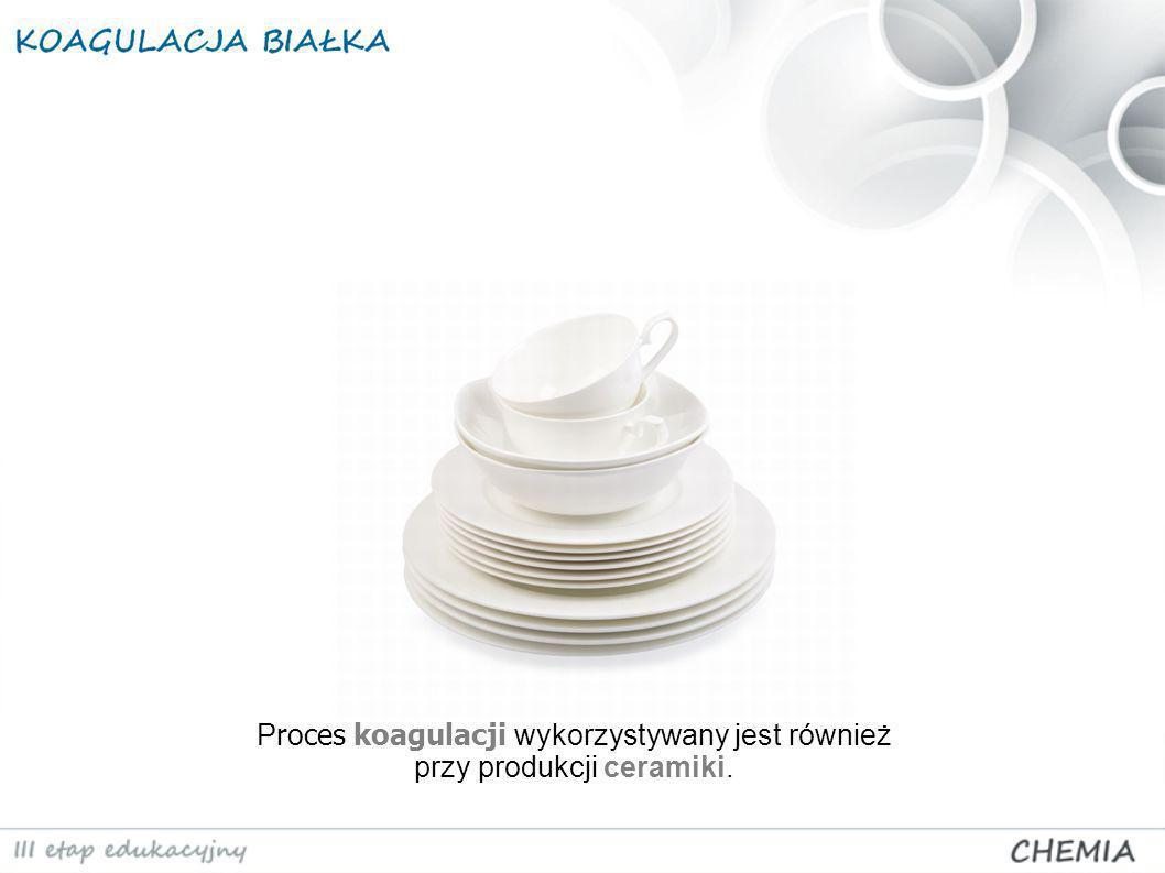 Proces koagulacji wykorzystywany jest również przy produkcji ceramiki.