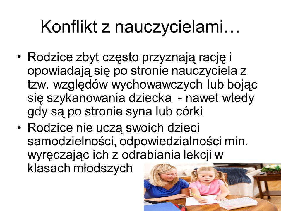Konflikt z nauczycielami…