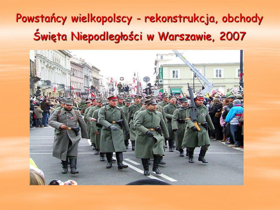 Powstańcy wielkopolscy - rekonstrukcja, obchody Święta Niepodległości w Warszawie, 2007