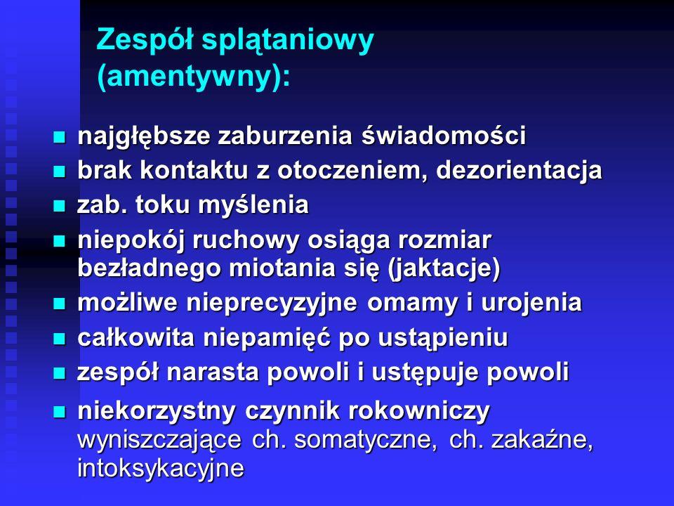 Zespół splątaniowy (amentywny):