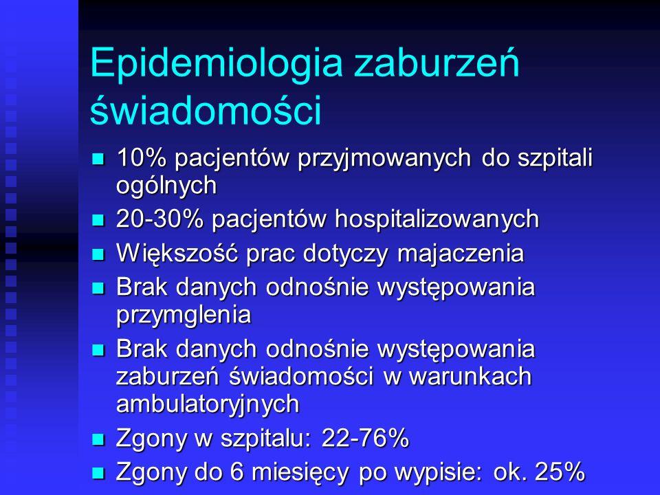 Epidemiologia zaburzeń świadomości