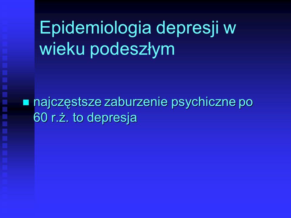 Epidemiologia depresji w wieku podeszłym