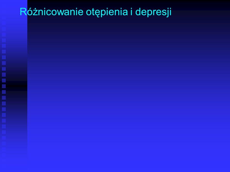 Różnicowanie otępienia i depresji