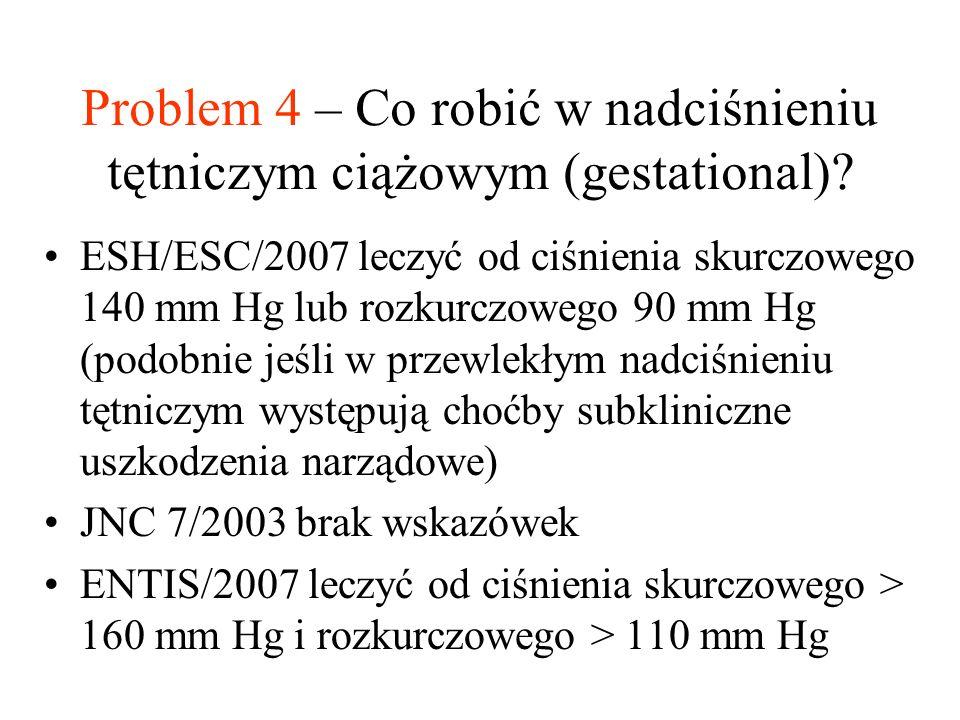 Problem 4 – Co robić w nadciśnieniu tętniczym ciążowym (gestational)