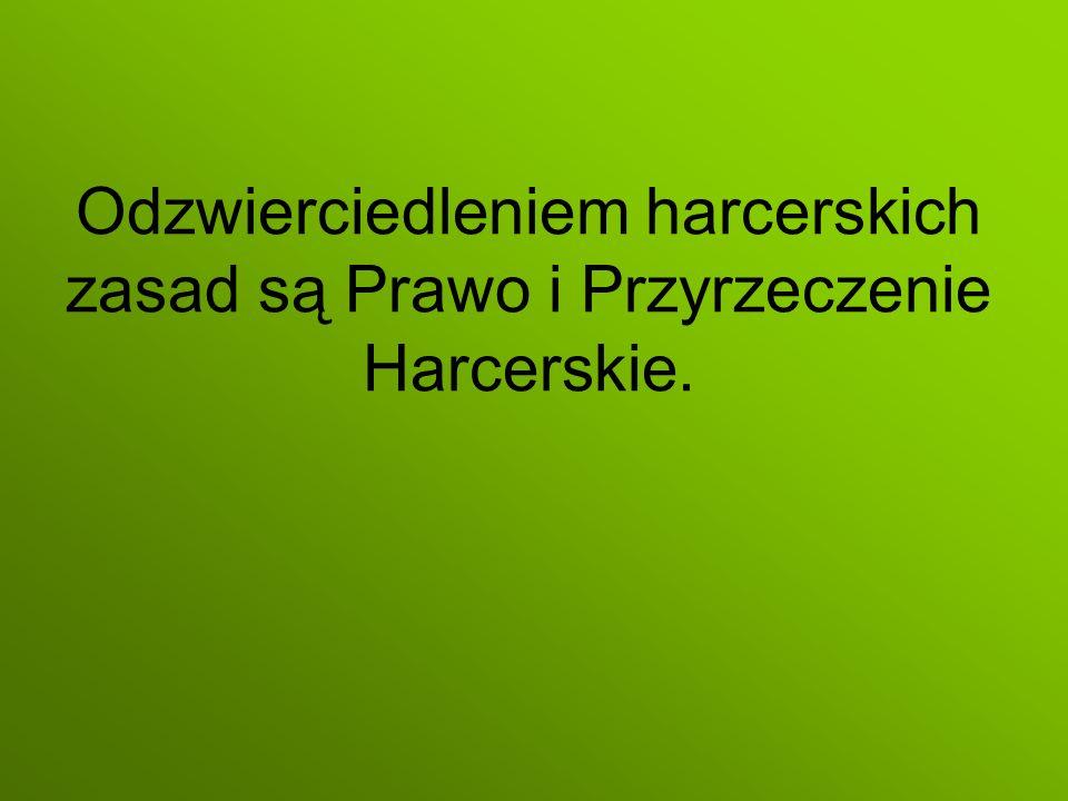 Odzwierciedleniem harcerskich zasad są Prawo i Przyrzeczenie Harcerskie.