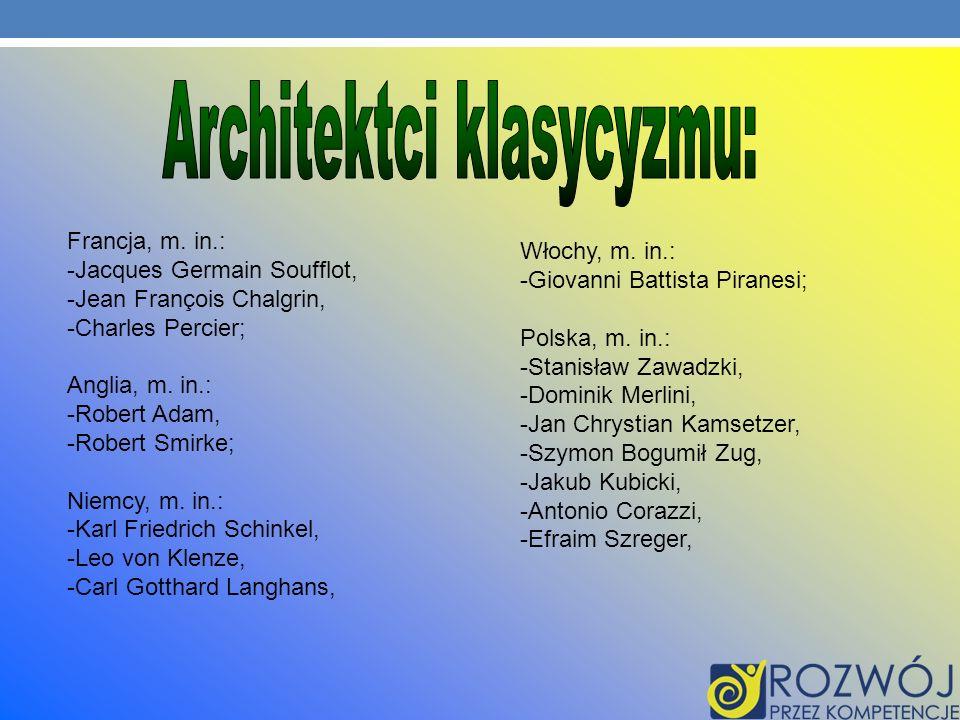 Architektci klasycyzmu: