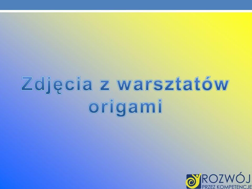 Zdjęcia z warsztatów origami