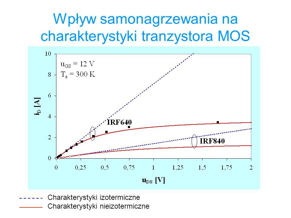 Wpływ samonagrzewania na charakterystyki tranzystora MOS