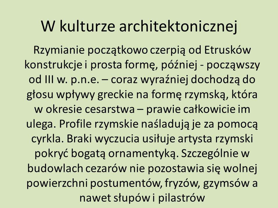 W kulturze architektonicznej