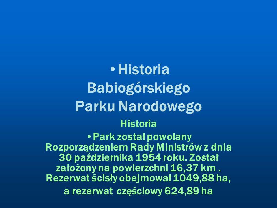 Historia Babiogórskiego Parku Narodowego