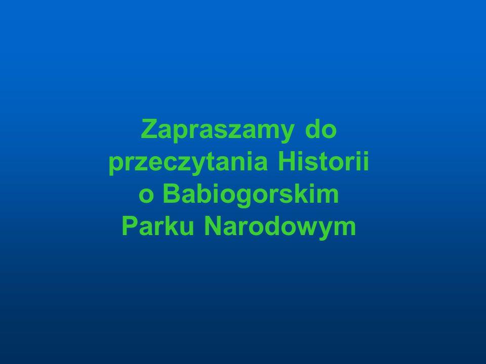 Zapraszamy do przeczytania Historii o Babiogorskim Parku Narodowym