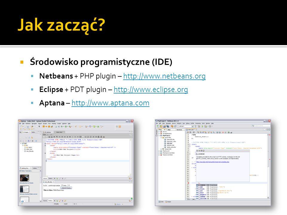Jak zacząć Środowisko programistyczne (IDE)