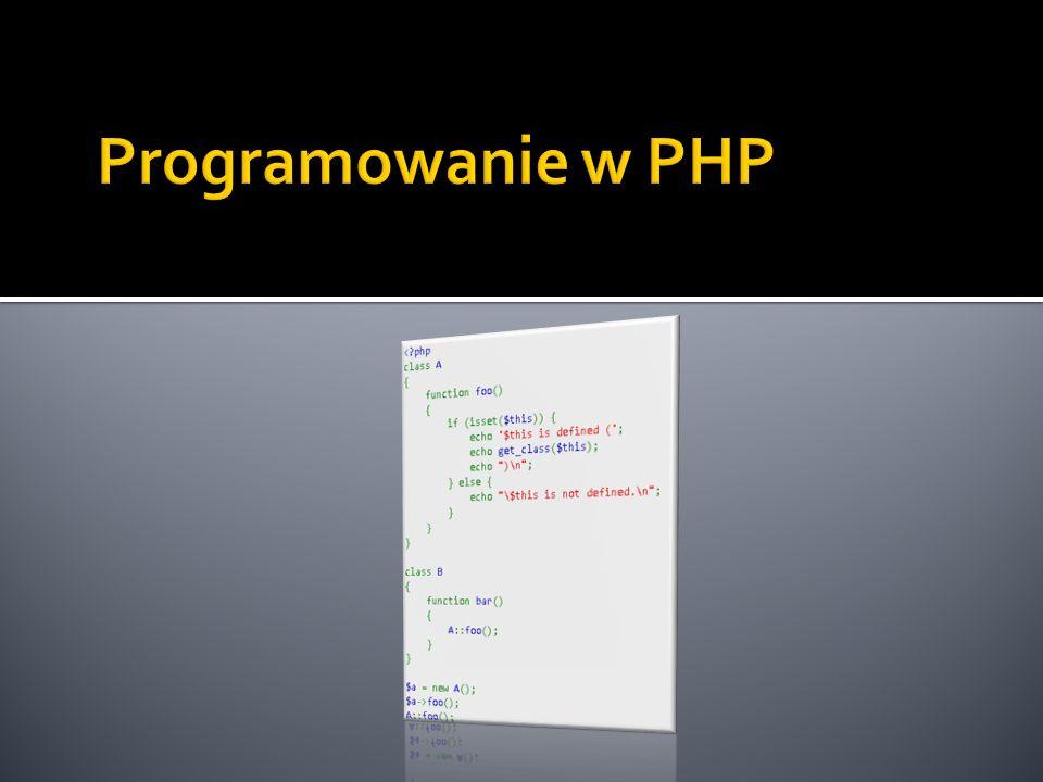 Programowanie w PHP