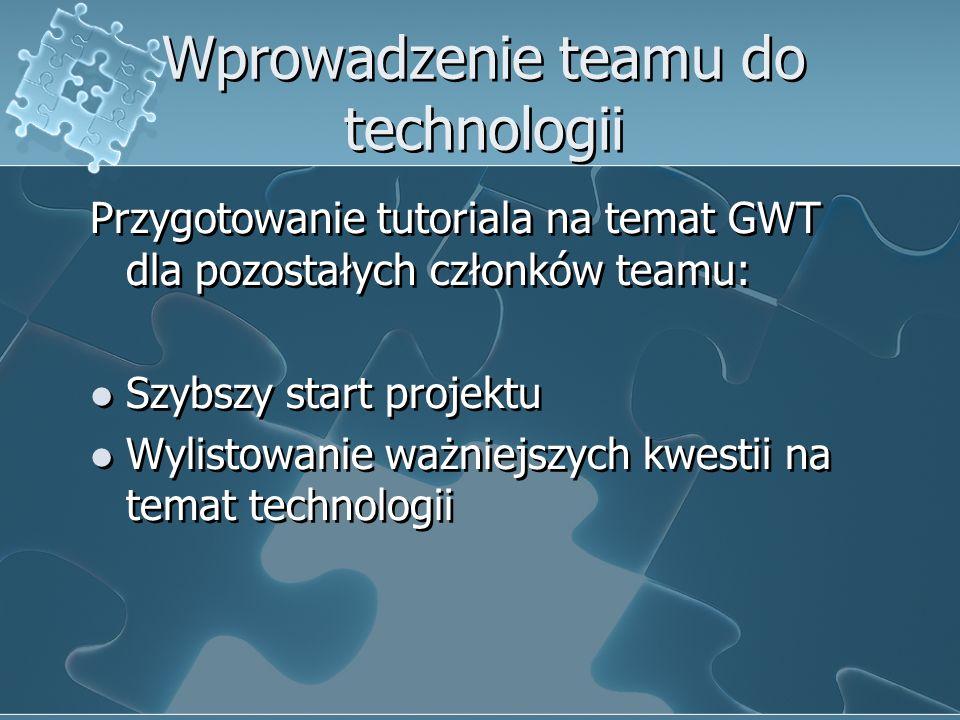 Wprowadzenie teamu do technologii
