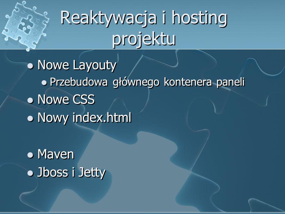 Reaktywacja i hosting projektu