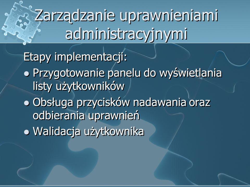 Zarządzanie uprawnieniami administracyjnymi