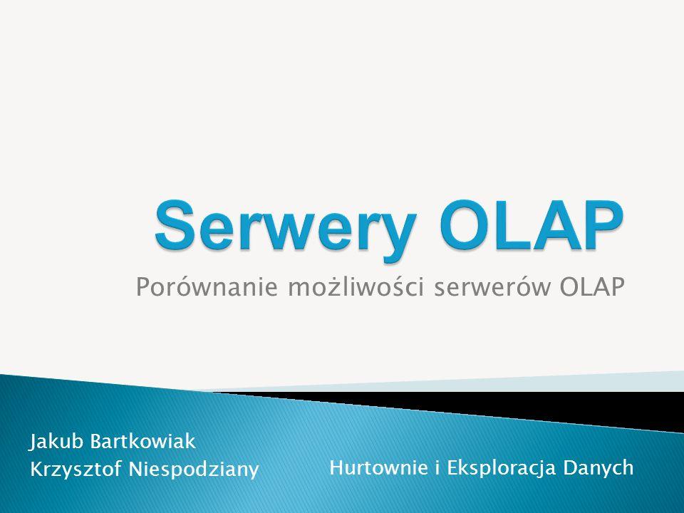 Porównanie możliwości serwerów OLAP
