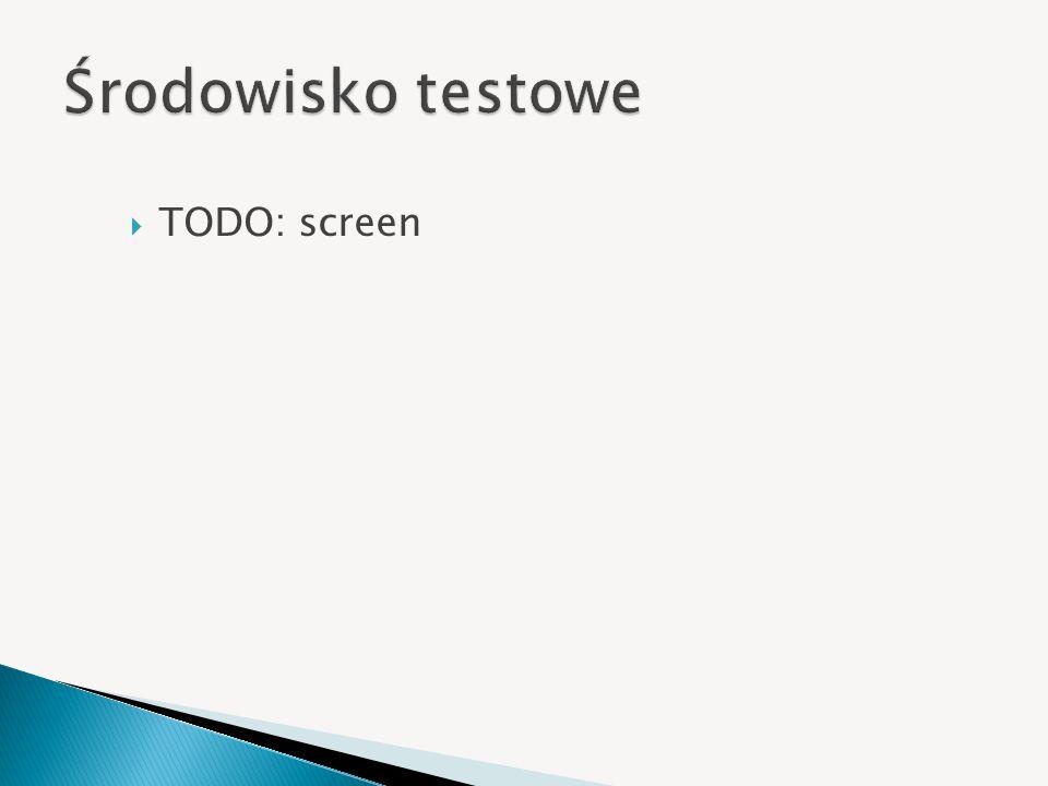 Środowisko testowe TODO: screen