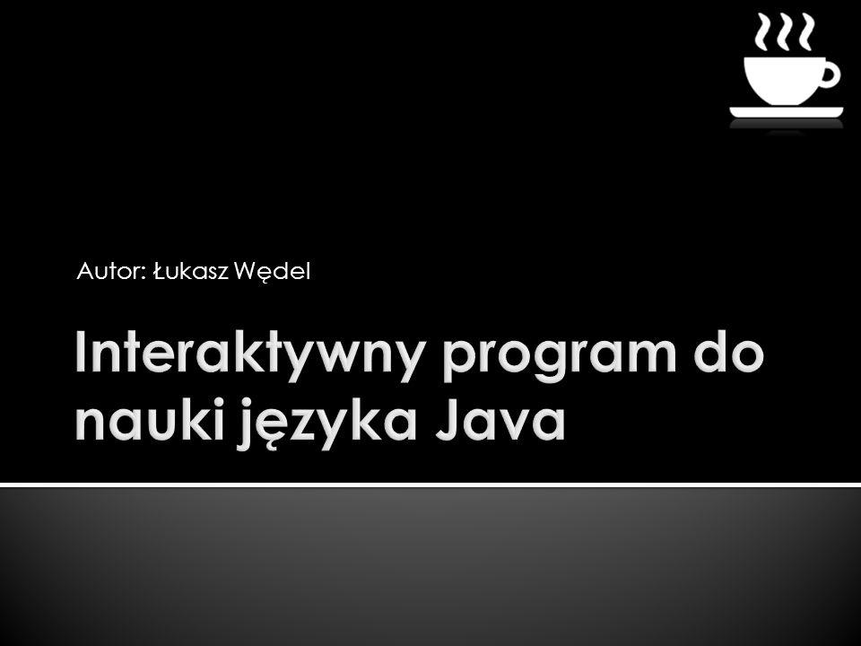 Interaktywny program do nauki języka Java