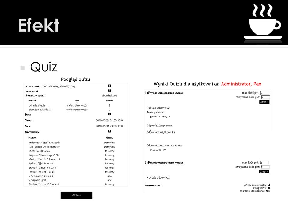Efekt Quiz
