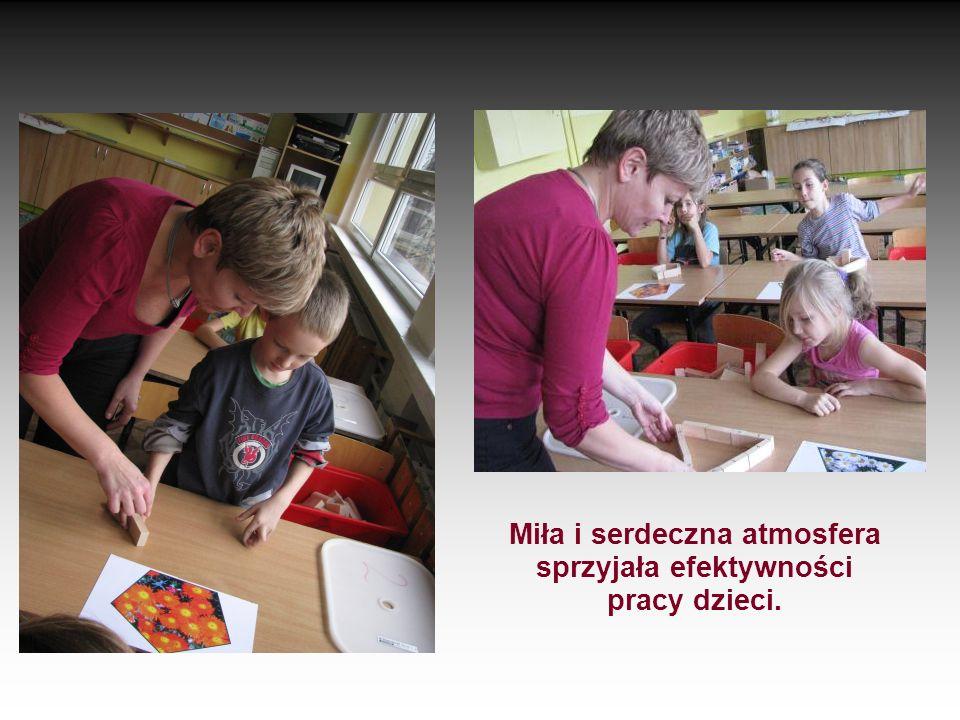 Miła i serdeczna atmosfera sprzyjała efektywności pracy dzieci.