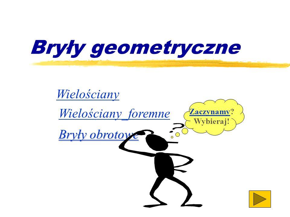 Bryły geometryczne Wielościany Wielościany_foremne Bryły obrotowe